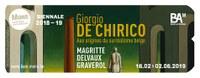 Giorgio de Chirico.  Aux origines du surréalisme belge : Magritte, Delvaux, Graverol